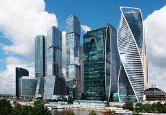 MOSCOW - August 04, 2016: Moscow-city. Moscow International Business Center Stock Photos