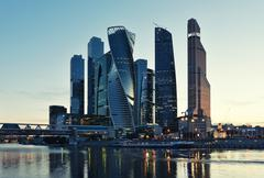 MOSCOW - August 04, 2016: Moscow International Business Center Moscow-city. S Stock Photos