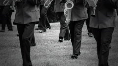 Military band on parade. Stock Footage