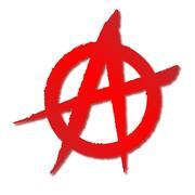 Red Anarchy Symbol Stock Illustration