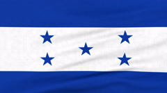 National flag of Honduras flying on the wind Stock Footage