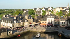 View over harbour, Auray, Morbihan, Brittany Stock Footage