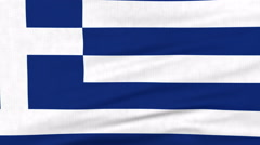 National flag of Greece flying on the wind Stock Footage