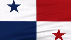 National flag of Panama flying on the wind - stock footage