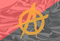Red and Black Anarchy Flag Stock Illustration