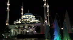 Ws .mosque in Grozny - Chechnya Heart Stock Footage