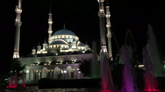 Ws, Mosque in Grozny - Chechnya Heart Stock Footage