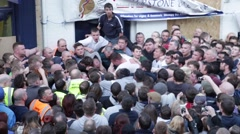 Atherstone Ball Game, North Warwickshire, UK Stock Footage