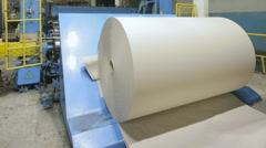 Paper production. Paper recycling. Stock Footage