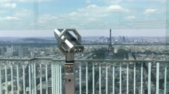 Montparnasse Tower Panoramic Observation Deck In Paris, Zoom Out Stock Footage