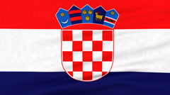 National flag of Croatia flying on the wind Stock Footage