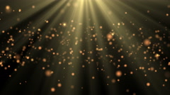 Abstract background shining bokeh sparkles and sunburst rays of light 4K UHD Stock Footage