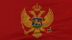 National flag of Montenegro flying on the wind Stock Footage