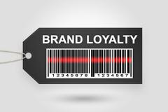 Brand loyalty price tag Stock Illustration