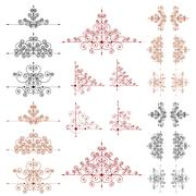 Set of vector page decoration elements or monograms for design Stock Illustration