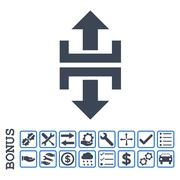 Divide Vertical Direction Flat Vector Icon With Bonus Stock Illustration