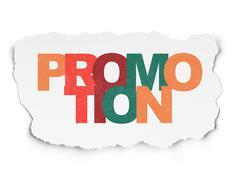 Marketing concept: Promotion on Torn Paper background - stock illustration