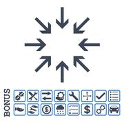 Pressure Arrows Flat Glyph Icon With Bonus Stock Illustration