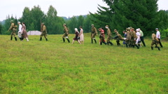 Historical reconstruction second world war. - stock footage