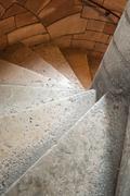 Stoned circular stair Stock Photos