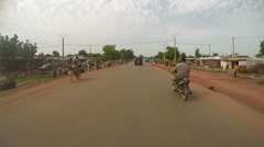 South-western Mali, camera car. A town and rural commune in the Cercle of Kati Stock Footage