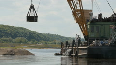River dredging works Stock Footage
