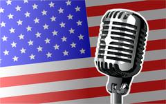 Stars And Stripes Microphone Stock Illustration