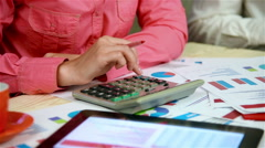 Accountant Woman Stock Footage