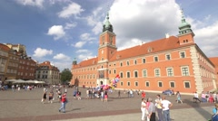 Old Town and King's Castle in Warsaw. Stock Footage