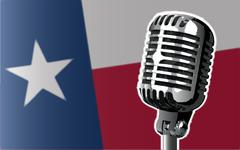 Texas Flag And Microphone Piirros