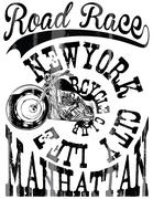 Vintage Motorcycle hand drawn vector tee graphic design Stock Illustration
