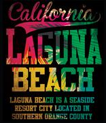 california laguna beach vector art - stock illustration