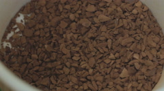 Instant Coffee Pour Extreme Closeup Macro Stock Footage