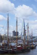 London, United Kingdom - June 4, 2012: Boats on the River Thames Stock Photos