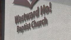 Baptist Church Sign - stock footage