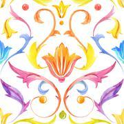 Vintage baroque victorian retro pattern Stock Illustration