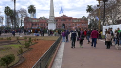 Bicentennial Independence day celebrations Argentina House of Government Stock Footage