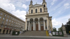 Saint Andrew's Church in Warsaw, August 2016 - stock footage