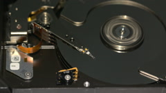 HDD - A Hard Disk Drive is open, real open hard drive Stock Footage