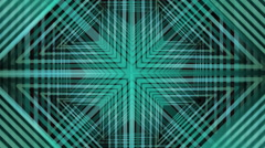 Abstract green geometric patterns, rotating kaleidoscopic ornaments - stock footage