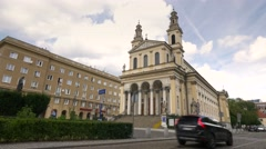 Saint Andrew's Church in Warsaw, August 2016 Stock Footage