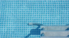 Swimming pool background texture video with stair Stock Footage