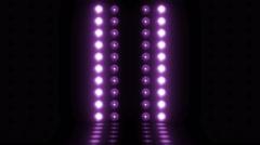 3d light bulb stage horizontal scanning 4K LOOP violet - stock footage