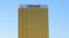 Trump Tower Daytime - Las Vegas Stock Footage