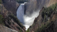Lower Falls - Yellowstone National Park Stock Footage