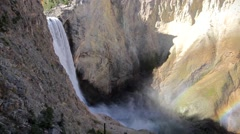 Lower Falls Yellowstone Stock Footage