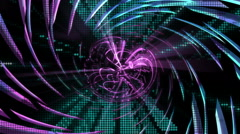 Revolving Neon Abstraction Stock Footage