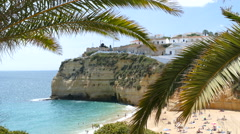 View of Carvoeiro from East Stock Footage