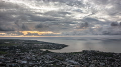 Sunset time lapse in Mauritius - stock footage