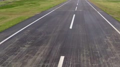 Aerial shot of empty road - stock footage